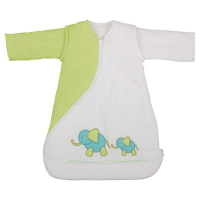 PurFlo Baby 2.5 tog SleepSac, 0-3 Months, Elephant Kiwi