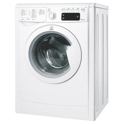 Indesit IWE8123 Washing Machine, 8kg Wash Load, 1200 RPM Spin, A Energy Rating. White