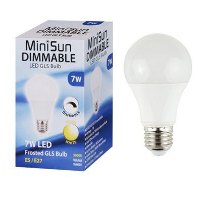 MiniSun 7W ES E27 Dimmable LED GLS Bulb - 3000K
