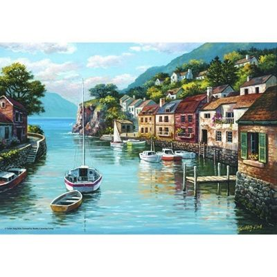 Village On The Water - 500pc Puzzle