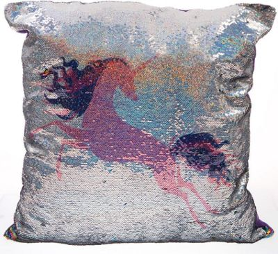 Pink Unicorn, Large Sequin Cushion