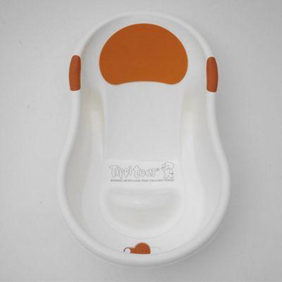 Tippitoes Mini Bath White with Orange Trim