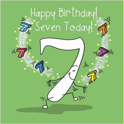Happy Birthday, Seven Today Boys Greetings Card