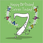 Happy Birthday, Seven Today Boys Greetings Card