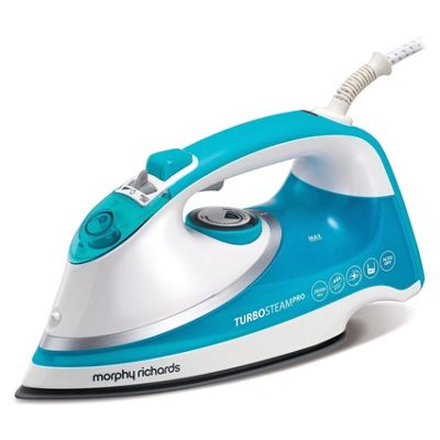 Morphy Richards Turbosteam Pro Ionic Steam Iron White/Blue