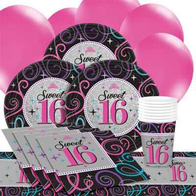 Sweet 16 Birthday Party Pack - Value Party for 8