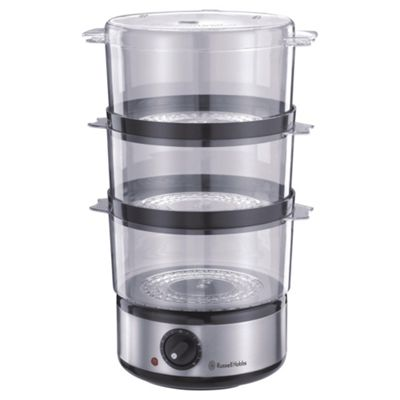 Russell Hobbs 3 Tier, 7L, Food Steamer - Stainless Steel
