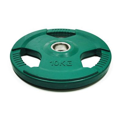 Bodymax Olympic Green Rubber Radial Weight Plate - 10kg