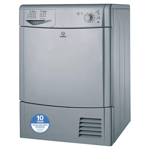 Indesit Ecotime Tumble Dryer, IDC85S, 8KG Load, Silver