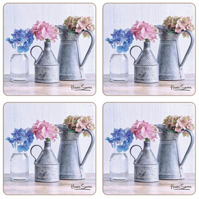 Hydrangea Collection Coasters Set of 4