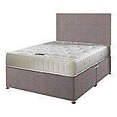 Happy Beds Ortho Royale Mattress Divan Bed Set Plain Headboard Slate Grey