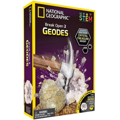National Geographic Crack Open 2 Geodes and Explore Crystals