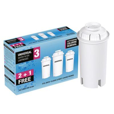 Aqua Optima Universal Water Filter Cartridges, 3-Pack
