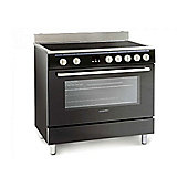 Montpellier MR90CEMK 90cm Electric Range Cooker with Ceramic Hob in Black