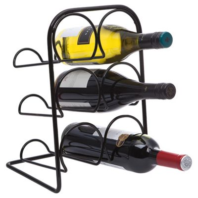 Hahn 6 Bottle Wine Rack, Black