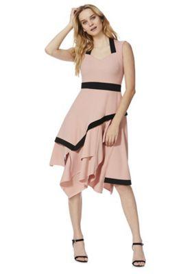 Feverfish Asymmetric Midi Dress Pink 18