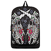 Unicorn Sugar Skull Duo Black Backpack 32x42x11cm