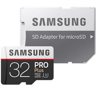 Samsung Pro Plus 32 GB microSDHC UHS-I Flash Memory Card with SD Adapter