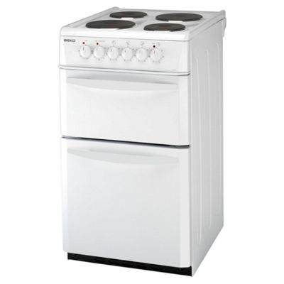 Beko D531AW Twin Cavity Electric Cooker 50cm White