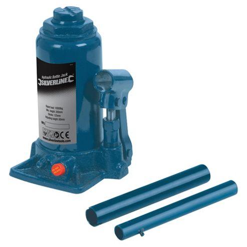 Silverline Hydraulic Bottle Jack - 10T