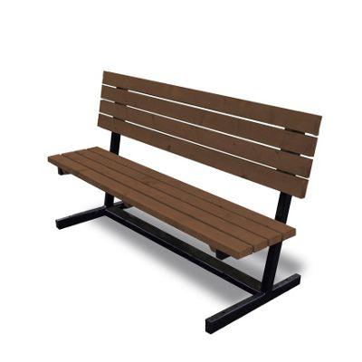 Thistleton steel garden seat 6ft
