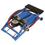Silverline Heavy Duty Double Barrel Foot Pump