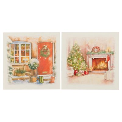 Tesco Traditional Santa Christmas Cards, 12 Pack