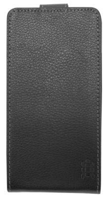 Tortoise™ Genuine Leather Flip Case HTC One Black