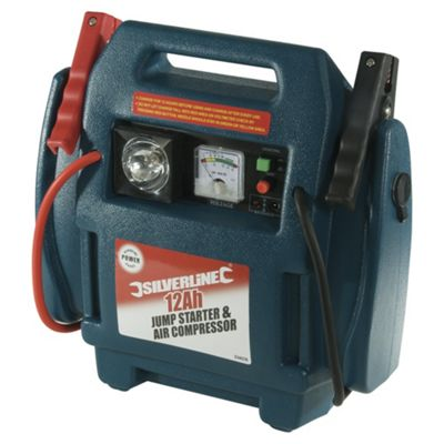 Silverline Jump Starter & Air Compressor 12Ah