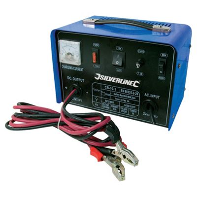 Silverline Battery Charger 12/24V 10A