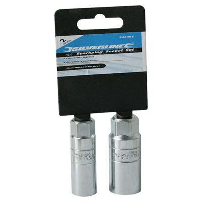 Toolstream Silverline 2-piece Sparkplug Socket Set