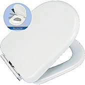 Devon D Shaped Lightweight Soft Slow Close Hinge Wrapover Toilet Seat