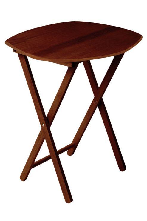 Premier Housewares Oval Snack Table - Dark Mahogany
