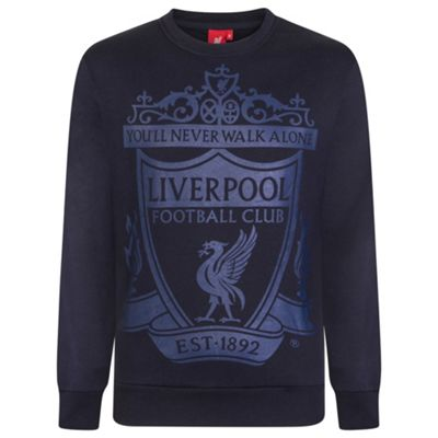 Liverpool FC Mens Sweatshirt Navy XL