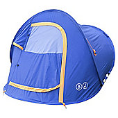 Tesco 2 Man Pop Up Tent Blue