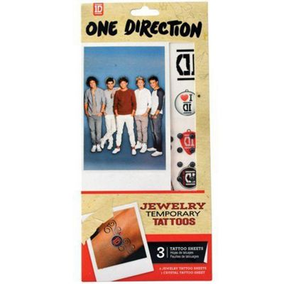 One Direction Jewellery Temporary Tattoo's, 2 Tattoo Sheets 2044