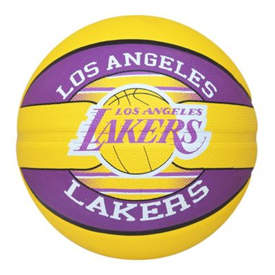 Spalding Los Angeles LA Lakers NBA Team Basketball Yellow/Purple Size 7