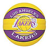 Spalding Los Angeles LA Lakers NBA Team Basketball Yellow/Purple Size 7