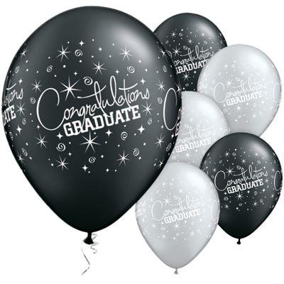 Congratulations Graduate 11 inch Latex Balloons - 25 Pack