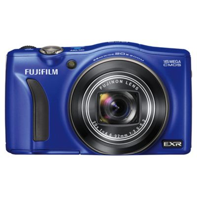 Fujifilm FinePix F770EXR Digital Camera, Blue, 16MP, 20x Optical Zoom, 3