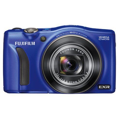 Fujifilm FinePix F770EXR Digital Camera, Blue, 16MP, 20x Optical Zoom, 3