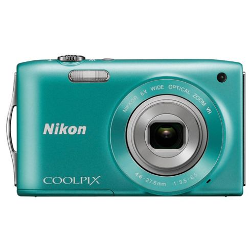Nikon S3300 Green Digital Camera, 16 Megapixel
