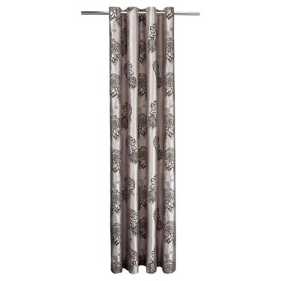 Tesco Amelia Flock Lined Eyelet Curtains W163xL229cm (64x90