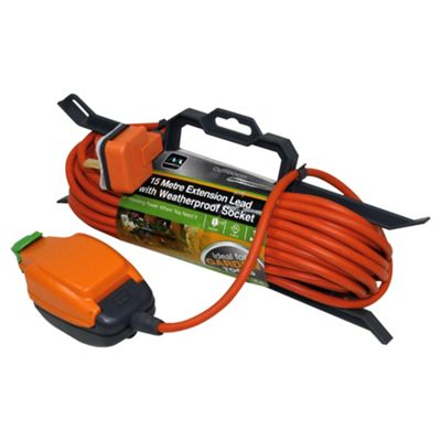 Masterplug Outdoor 13amp Extension Lead With Waterproof Socket