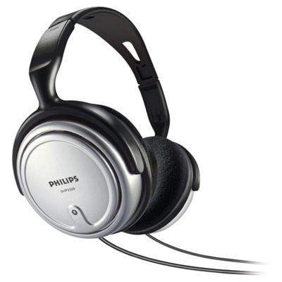 Philips SHP2500 Indoor Corded Television Headphones - Black