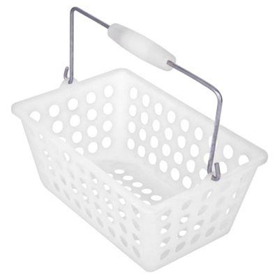 Tesco plastic storage basket caddy white. Buy Tesco plastic storage basket caddy white from our Basin