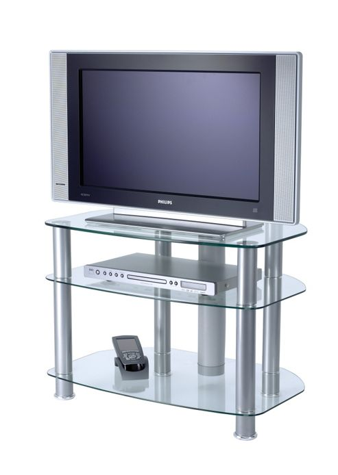 Alphason Sona TV Stand with clear glass for up to 32
