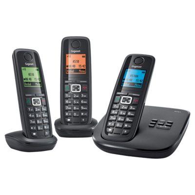Gigaset A510A Triple Cordless Phone - Black