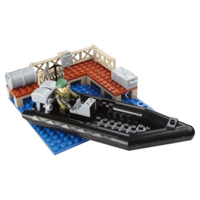 Character Building H.M Armed Forces Play Set (Quad And Rib Boat)