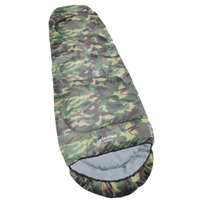 Lichfield Trail Midi Sleeping Bag, Camouflage